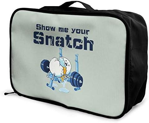 アレンジケース Show Me Your Snatch ぐでたま 旅行用トロリーバッグ 旅行用サブバッグ 軽量 ポータブル荷物バッグ 衣類収納ケース キャリーオンバッグ 旅行圧縮バッグ キャリーケース 固定 出張パッキング 大容量 トラベルバッグ ボストンバッグ
