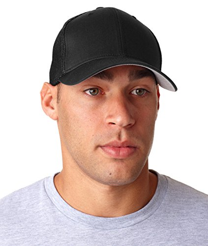 Flexfit Trucker Cap, Black Cotton Trucker Cap