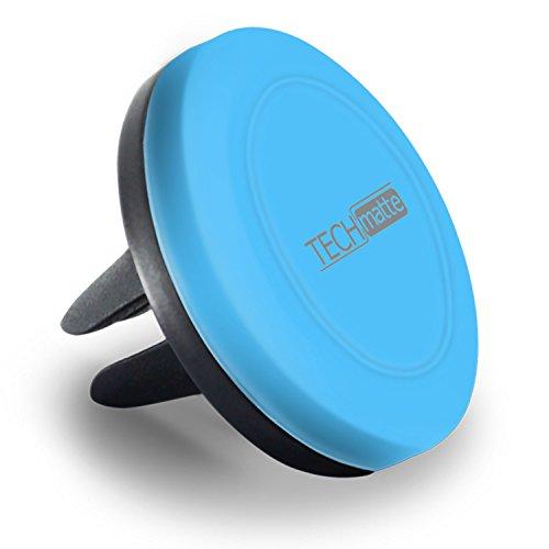 TechMatte Magnetic Car Phone Mount-Universal Air Vent Magnetic Phone Mount Holder (Blue)