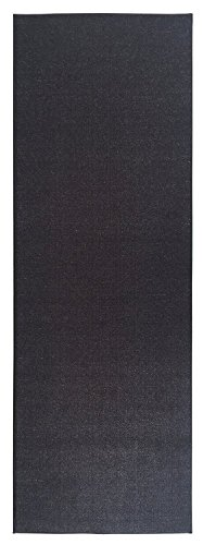 (Ottohome Collection Solid Color Hallway and Wedding Runner Rug (3X12, Black))