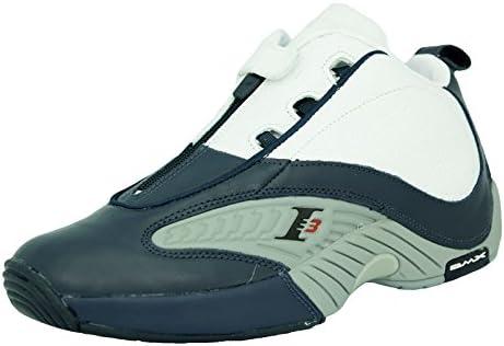 Reebok Answer IV Zapatillas de Baloncesto Blanco Azul Gris para ...
