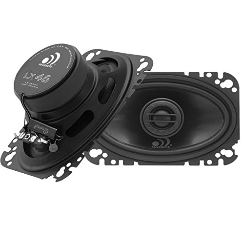 Series Truck 95 Heavy (Massive Audio LX46-4x6 Inch 250 Watts Max / 60w RMS, 4 Ohm, LX Series, Coaxial Car Audio Speaker System (Sold As Pair))