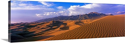 Canvas On Demand Premium Thick-Wrap Canvas Wall Art Print entitled Sand dunes in a desert, Great Sand Dunes National Park, Colorado - Premium Hills Desert
