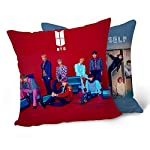 NUOFENG Kpop BTS Bangtan Boys Love Yourself ? Answer Square Throw Pillow Cover Pillowcase, 15.7x15.7inch