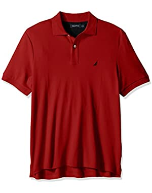 Men's Classic Fit Short Sleeve Solid Soft Cotton Polo Shirt!