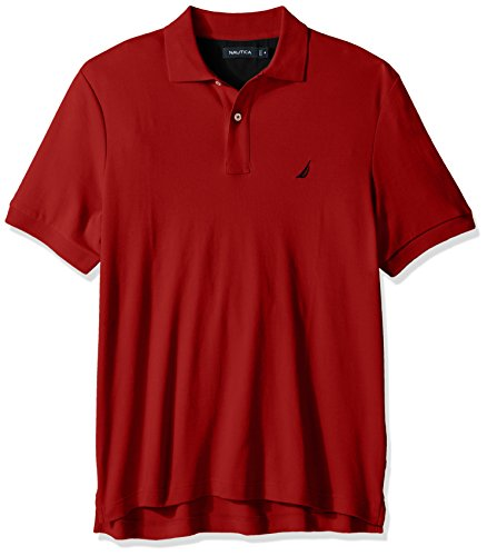 Nautica Men's Classic Fit Short Sleeve Solid Soft Cotton Polo Shirt, Nautica Red, ()