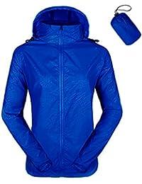 Unisex Packable Lightweight UV Protect Jackets Outdoor Windbreaker Quick-Dry Skin Rain Coat