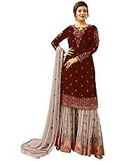 رداء حفلة الهندي/باكستاني ملابس الزفاف شارا نمط سالوار للمرأة فيونا