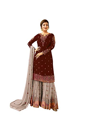 (Delisa Indian/Pakistani Salwar Suit for Women Poo (Dark Purple, L-42))
