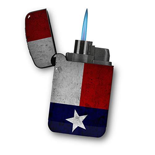 Texas Flag Concrete Wall - Sunshine Cases Matte Black Rubber Grip Flameless Turbo Pocket Lighter