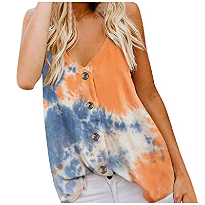 Women's Casual Short Sleeve T-Shirts Button Down V Neck Tunic Tops Short Sleeve Solid Loose Blouses: Clothing