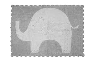 Aratextil Elefantito Alfombra Infantil, Algodón, Gris, 120x160 cm