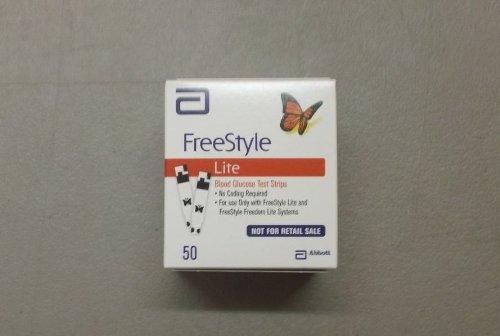 Freestyle LITE glycémie Bandelettes papillon NOUVEAU Design 1 boîte de 50
