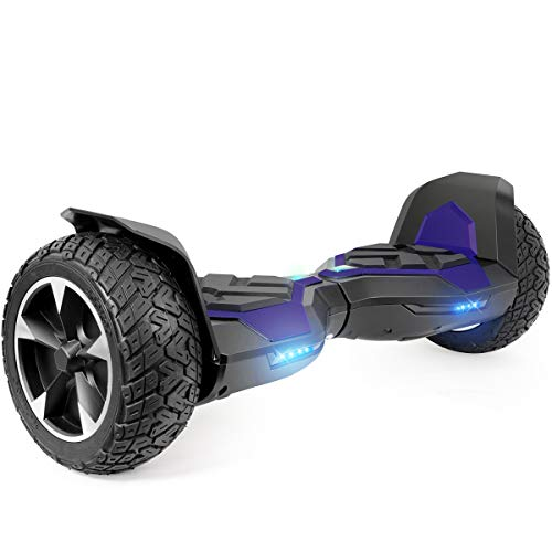 XtremepowerUS 8.5 Inch Off-Road All Terrain Self-Balancing Hoverboard, w/Bluetooth Speaker (Blue)