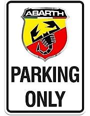 Abarth 21400 Parking Only schild 28 x 40 cm