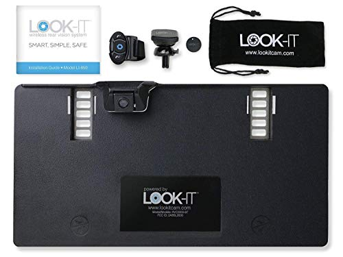 (Look-IT Safety Backup Camera - Simple DIY Installation - Connects to Smartphone for Easy Viewing | Includes Magnetic Phone Mount)