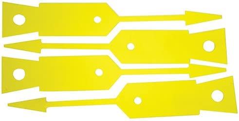 John Dow Industries 086Y-A Yellow Disposable Key Tag 1 Pack