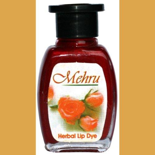 Mehru Lip Dye, Natural Herbal Lip Stain - Auburn