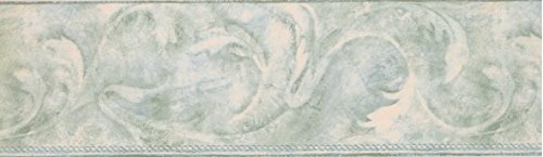 Light Grey Acanthus Scroll Wallpaper Border 5154 AZ
