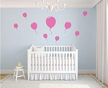 Set mit 9 Ballon Wandaufkleber Kinderzimmer Schlafzimmer Spielen ...