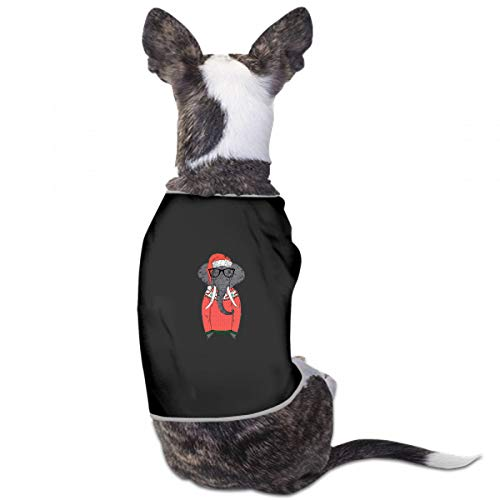 XUGGL Cat Clothes Pet Elephant Dressed Funny Christmas Sweater Santa Tank Top Soft Cotton Dog Clothing Girl ()
