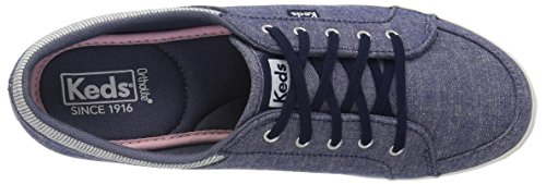 Keds Vrouwen Vollie Ll Chambray Sneaker Marine