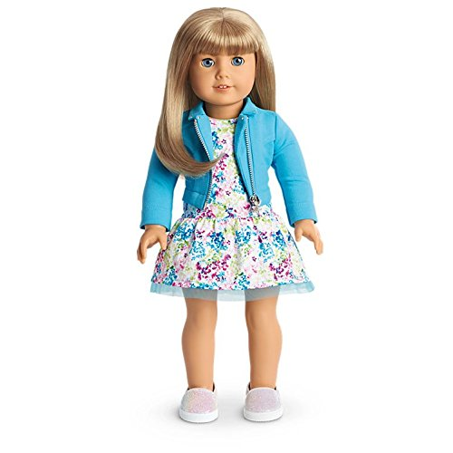 American Girl - 2017 Truly Me Doll: Light Skin, Blond Hair with Bangs, Blue Eyes DN51 for sale