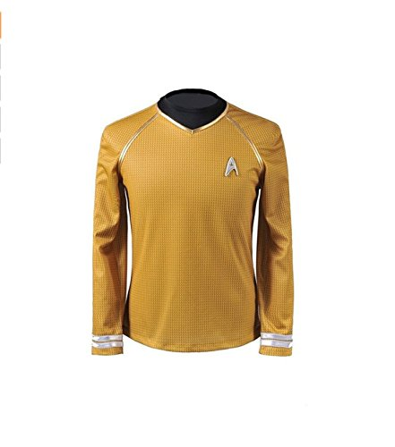 (Cosparts Star Trek Into Darkness Yellow Captain Man's Cosplay T-shrit (US Size)