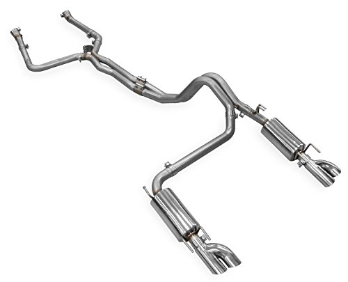 Hooker 70501313-RHKR Blackheart Header-Back Exhaust System Dual 2.5 in. 304 Stainless Steel Tubing Quad Split Rear Exit