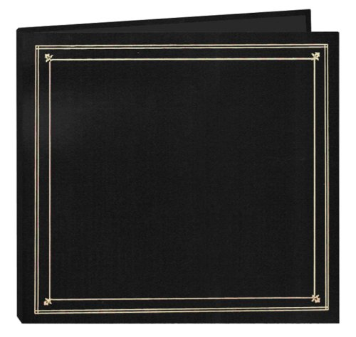Pioneer Photo Albums 204-Pocket Post Bound Leatherette Cover Photo Album for 4 by 6-Inch Prints, Black by Pioneer Photo Albums