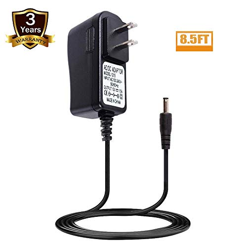 (12V Yamaha Keyboard Power Cord,UL Listed Replacement Power Supply Charger for Yamaha YPG-235,PSR-E253,PSR-E263,PSR-E353,PSR-E363,YPT-200,YPT-210,YPT-220,YPT-230 Series Keyboard(8.5 Ft Long Cord))