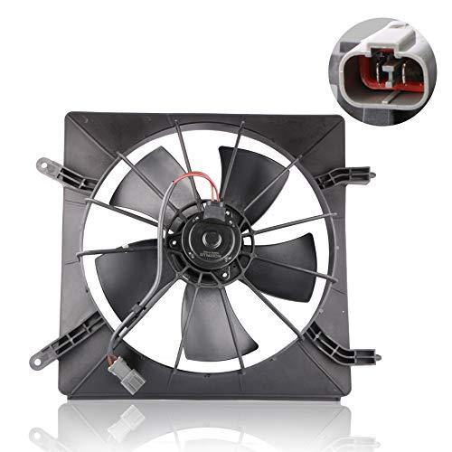 MOSTPLUS Radiator Cooling Fan Motor & Shroud for 02-06 Honda CR-V & 03-08 Element 2.4L(Left Side)