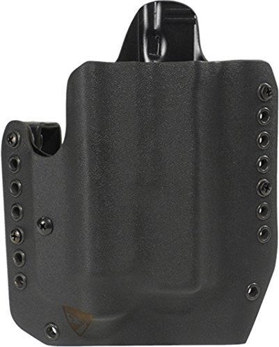 DSG Arms - Alpha Lighted - OWB Kydex Holster - Outside The Waistband (Glock 19/23/32/45 w/APLc, Right Black)