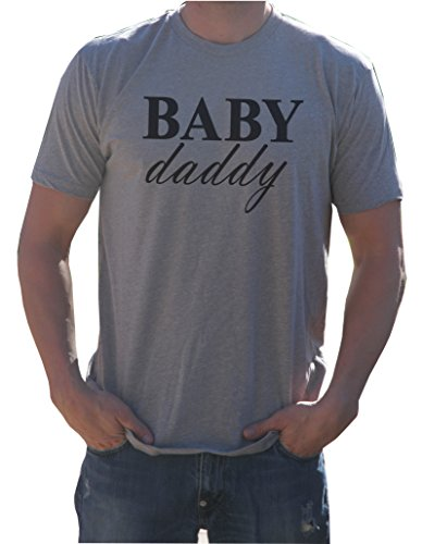 It's Your Day Clothing Baby Daddy Shirt Tri-Blend Crew Neck, Premium Heather Gray, Medium