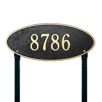 Madison Estate Lawn Address Plaque Color: Black/Gold Letters