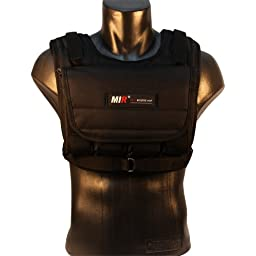 MiR MV 20LBS Adjustable Weighted Vest (WEIGHTS INCLUDED. For both men and women.One size fits all.)