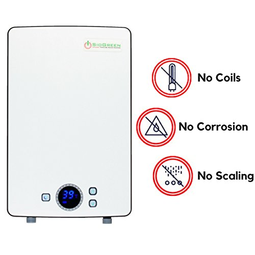 - Sio Green IR288 POU 240v/10A-40A/2kW-9kW Infrared Electric Tankless Water Heater No Corrosion No Limescale. 1 Shower Inlet Above 55F