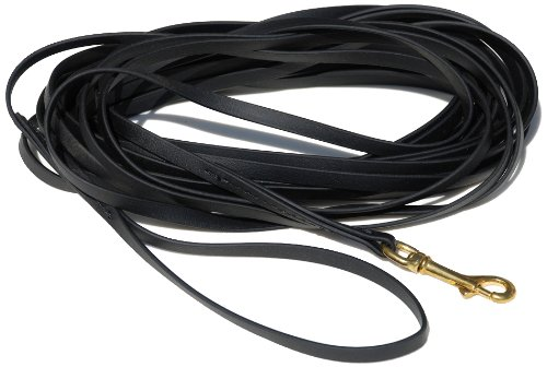 33-Feet x 3 8-Inch Signature K9 Biothane Long Line, 33-Feet x 3 8-Inch, Black