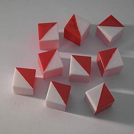 9 Cubos De Kohs Blanco Y Rojo Industrial Scientific