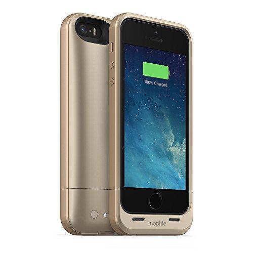 Mophie 2108_JPA-IP5-GLD Juice Pack Air Hartschale Schutzhülle für Apple iPhone 5/5S mit integrierten 1700mAh Akku gold