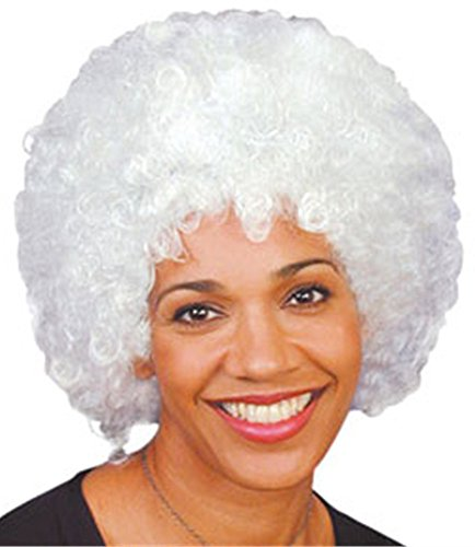 New Mens Womens Child Costume White Afro Disco Wigs
