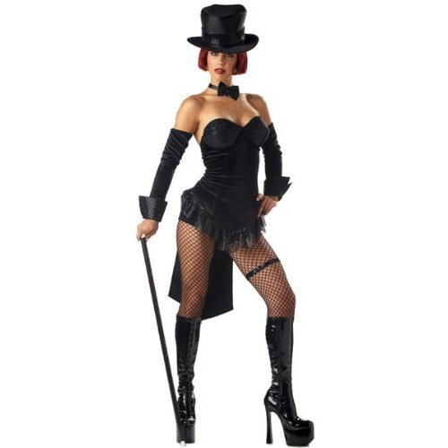 Circus Ringmaster Female Costume (Women Medium 8-10 - Ringmaster Costume (Boots, Cane and Stockings not included.))