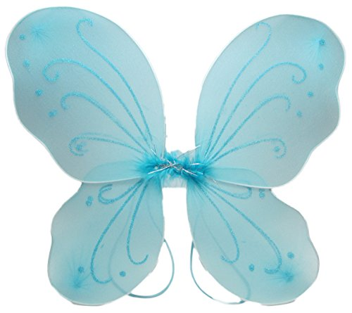 Aqua Fairy Costumes (Hairbows Unlimited Butterfly Dress Up Wings (Aqua))