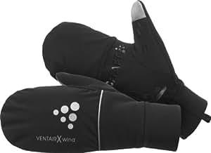 Craft Men's Hybrid Weather Glove, Black, X-Small