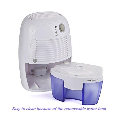 [해외]가정용 제습기, Powilling 휴대용 소형 전기 제습기 욕실, 침실, RV, 차고, 옷장, 물 탱크 1100과 Gunsafe/Dehumidifiers for Home, Powilling Portable Compac