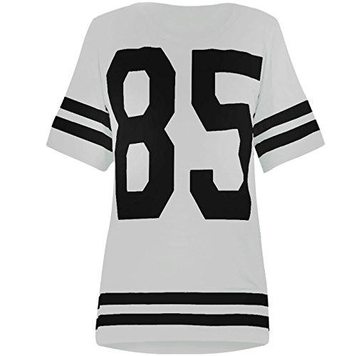 Football Jersey Dress (Genluna Women's Football Jersey T Shirt Top Loose Dress [B6619],Small,White)