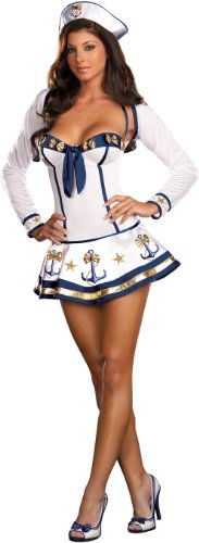 Up Costume Sailor 40s Pin (Makin Waves Adult Costume -)