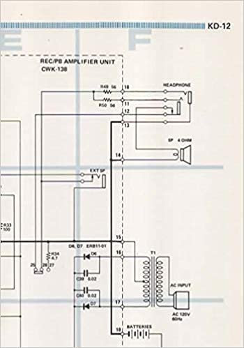 schematic wiring circuit diagram for pioneer centrex kd-12 portable audio  cassette tape player recorder: pioneer electronic corp, not stated,  centrex: amazon.com: books  amazon.com
