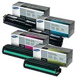 Green Apple Imaging Samsung CLP-415NW, CLX-4195FW 4pk Original Toner Cartridges,CLT-K504S, CLT-C504S, CLT-M504S, CLT-Y504S (BCMY)