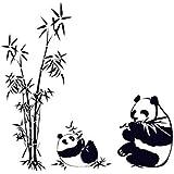 Malloom® Bricolage Motif De Bambou Panda Amovible En Vinyle Autocollant DéCor Sticker Mural